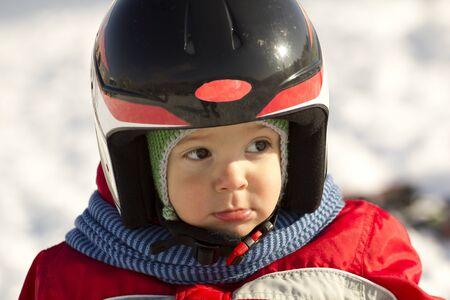 nifty: Handige kleine skiër gewoon rust tussen de races