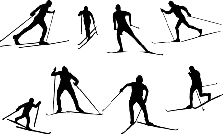 move gun: Winter sport silhouette - ski run