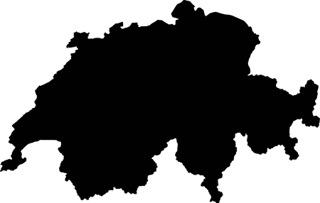 swiss: Silhouette maps European country of Swiss.