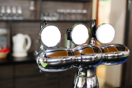 beer pump: Closeup of a beer pump.