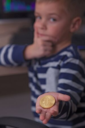 Coin Focus (Shallow DOF). Archivio Fotografico