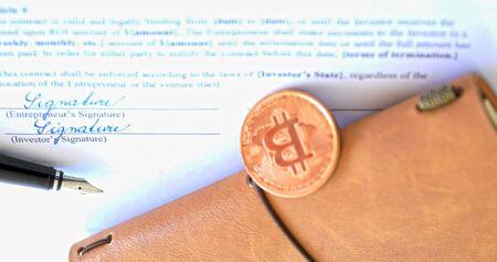 A suitable investment in cryptocurrencies. Archivio Fotografico