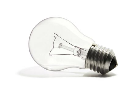 A light bulb on the white background