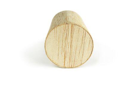 balsa: Balsa hout cilinder, op de witte achtergrond