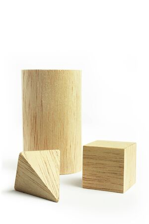 balsa: Balsa wood model group, on the white background