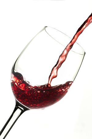 Dynamic action, poured red wine into glass Stock Photo - 6423554