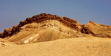 stratification: Great layered rocks in the desert Stock Photo