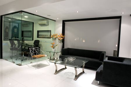 Modern Apartment Interior Living room Design with beautiful wall, mix wooden furniture and TV - Image