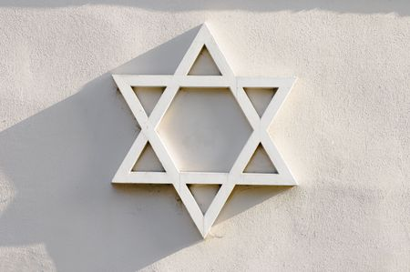 detail of religious symbol - jewish Star of David photo