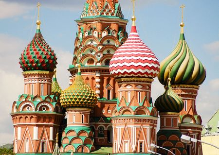 moscow churches: Saint Basils cathedral, Red Square, Moscow, Russia
