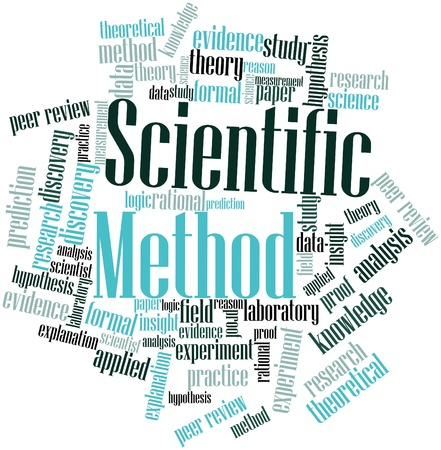 peer: Abstract word cloud for Scientific Method with related tags and terms Stock Photo