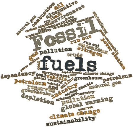 Abstract word cloud for Fossil fuels with related tags and terms Stock Photo - 15829995