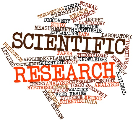 Abstract word cloud for Scientific research with related tags and terms photo