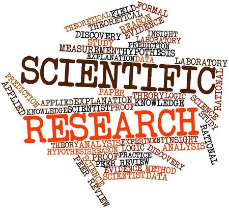 metodo cientifico: Nube palabra abstracta para la investigación científica con las etiquetas y términos relacionados Foto de archivo