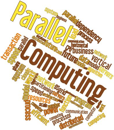 Abstract word cloud for Parallel Computing with related tags and terms Stock Photo