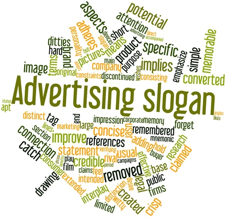 Abstract word cloud for Advertising slogan with related tags and terms Stock Photo - 15995988