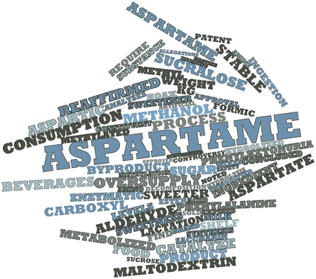 Abstract word cloud for Aspartame with related tags and terms