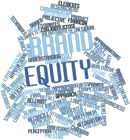 leverage: Abstract word cloud for Brand equity with related tags and terms