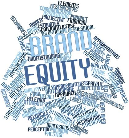 equidad: Nube palabra abstracta por valor de marca con las etiquetas y términos relacionados