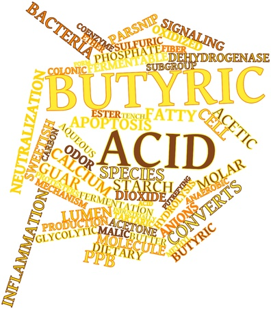 guar: Abstract word cloud for Butyric acid with related tags and terms