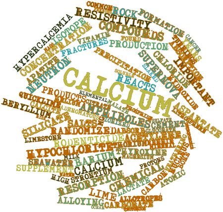 Abstract word cloud for Calcium with related tags and terms Stock Photo - 15996271