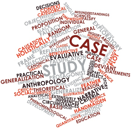 Abstract word cloud for Case study with related tags and terms Stock Photo - 15996120