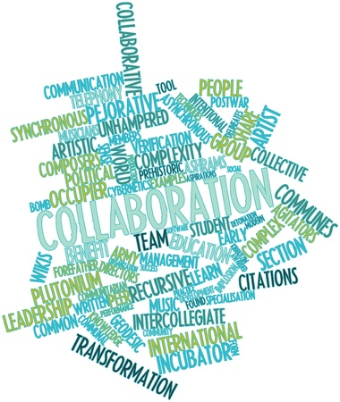 Abstract word cloud for Collaboration with related tags and terms Stock Photo - 15996132
