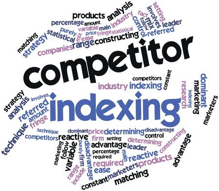 Abstract word cloud for Competitor indexing with related tags and terms Stock Photo - 15995816