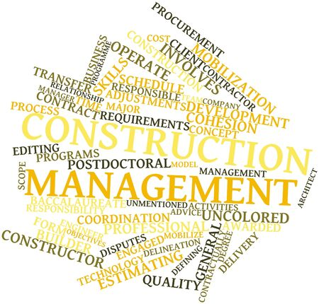 leveling: Abstract word cloud for Construction management with related tags and terms