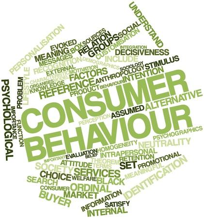 personalidad: Nube palabra abstracta para el comportamiento del consumidor con las etiquetas y t�rminos relacionados