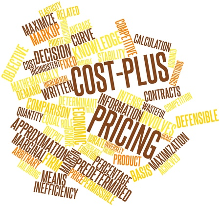 Abstract word cloud for Cost-plus pricing with related tags and terms Stock Photo - 15996137