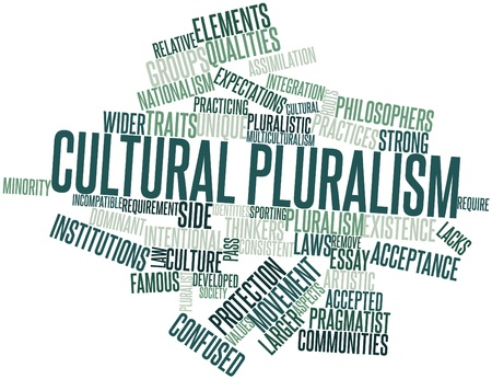 intentional: Abstract word cloud for Cultural pluralism with related tags and terms