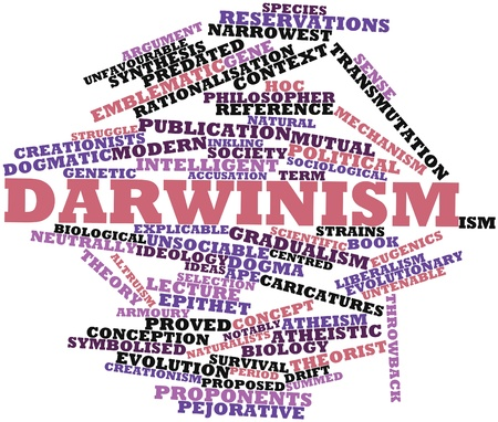 Abstract word cloud for Darwinism with related tags and terms Stock Photo - 15995902