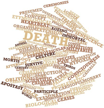 Abstract word cloud for Death with related tags and terms Stock Photo - 15996150