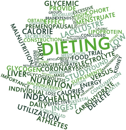 Abstract word cloud for Dieting with related tags and terms Stock Photo - 15995956