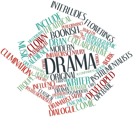 Abstract word cloud for Drama with related tags and terms Stock Photo - 15995906