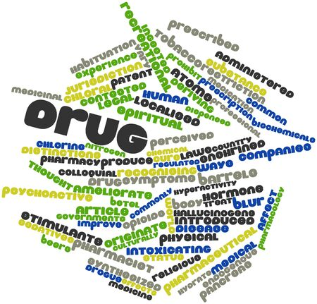 endogenous: Abstract word cloud for Drug with related tags and terms