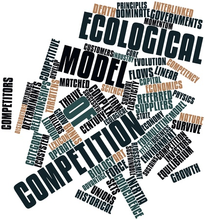 Abstract word cloud for Ecological model of competition with related tags and terms Stock Photo - 15996134