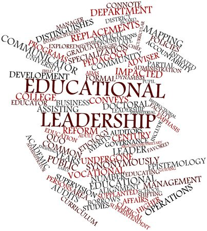 supervision: Abstract word cloud for Educational leadership with related tags and terms