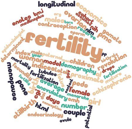 demografia: Nube palabra abstracta para la fertilidad con las etiquetas y términos relacionados Foto de archivo