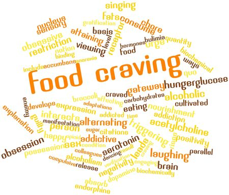 craving: Abstract word cloud for Food craving with related tags and terms