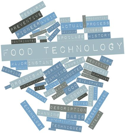 Abstract word cloud for Food technology with related tags and terms Stock Photo - 15995691