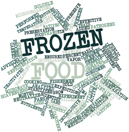thawing: Abstract word cloud for Frozen food with related tags and terms