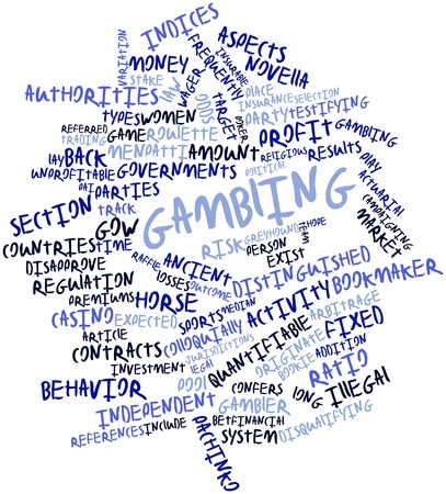premiums: Abstract word cloud for Gambling with related tags and terms