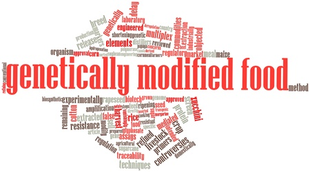 関連するタグと用語と遺伝子組み換え食品の抽象的な単語大群