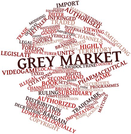 ruling: Abstract word cloud for Grey market with related tags and terms
