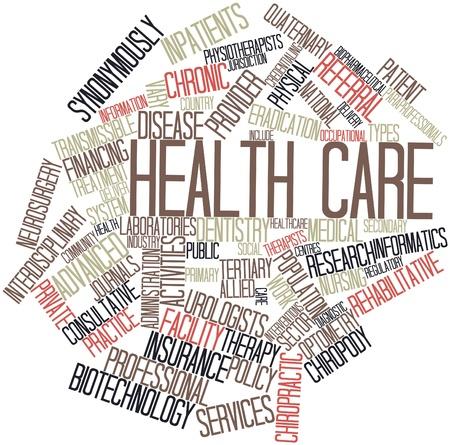 terapia ocupacional: Nube palabra abstracta para el cuidado de la salud con las etiquetas y términos relacionados Foto de archivo