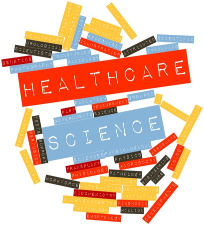 radiotherapy: Abstract word cloud for Healthcare science with related tags and terms Stock Photo