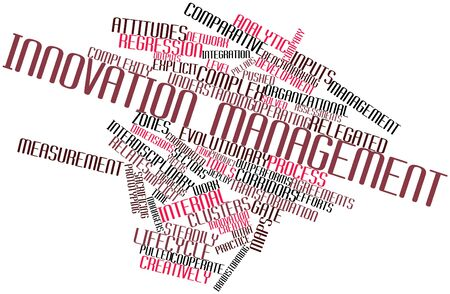 marketers: Abstract word cloud for Innovation management with related tags and terms