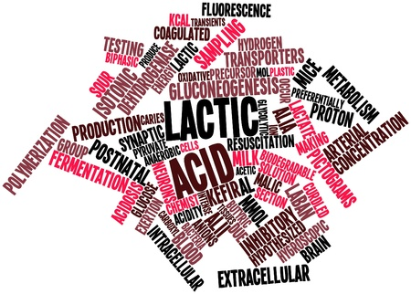 Abstract word cloud for Lactic acid with related tags and terms Stock Photo - 15995926